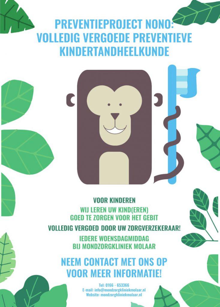 Preventieproject Nono van Gewoon Gaaf | Volledig vergoede preventie kindertandheelkunde | Mondzorgkliniek Molaar